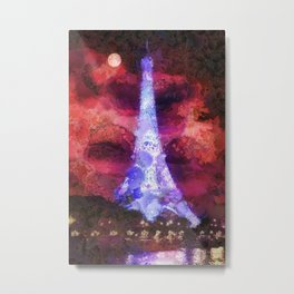 Paris Night Metal Print