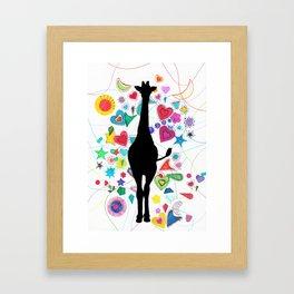 Giraffe World Framed Art Print