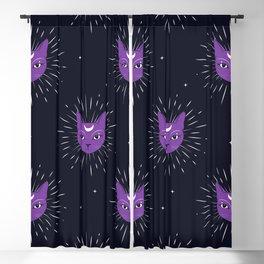 purple cats Blackout Curtain