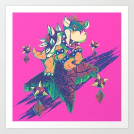 Bowser in the Sky Art Print