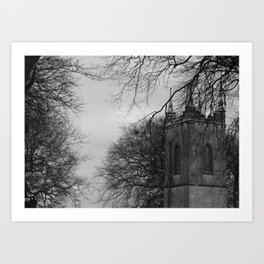 Gothic church Art Print
