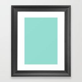 Pale robin egg blue Framed Art Print