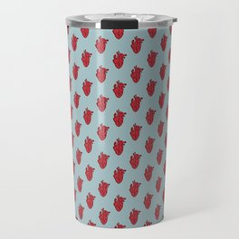 My Heart Beats for You - Blue Travel Mug