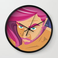selfie Wall Clocks featuring Selfie by nathan wellman