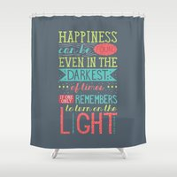 happiness Shower Curtains featuring Happiness by Dorothy Leigh