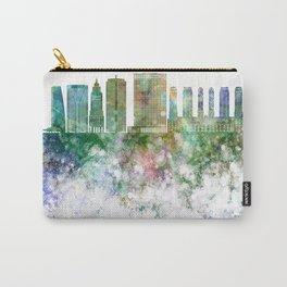Sao Paulo V2 skyline in watercolor background Carry-All Pouch