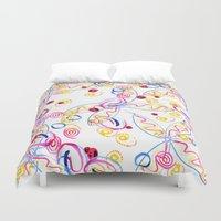 splatter Duvet Covers featuring splatter by lindseyclare