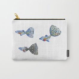 Three tropical fish Carry-All Pouch