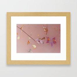 Harry Styles - pink flowers album Framed Art Print