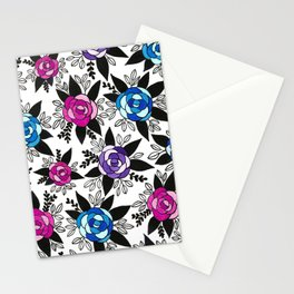 Black Rose Watercolor Stationery Cards