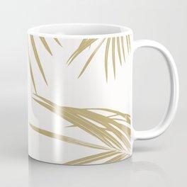 Gold Palm Leaves Dream #1 #tropical #decor #art #society6 Coffee Mug