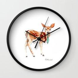 deer in necktie Wall Clock