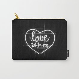 Love 24 Hours (Black and White) Carry-All Pouch