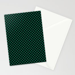 Black and Lush Meadow Polka Dots Stationery Cards