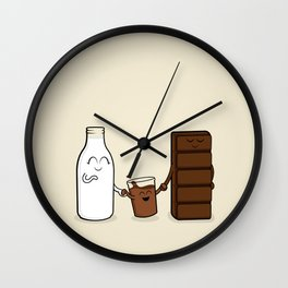 Chocolate + Milk Wall Clock