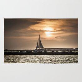 Sunset Sailing  Rug