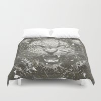 leopard Duvet Covers featuring LEOPARD by Stefania Grippaldi - IDEAS FLY studio