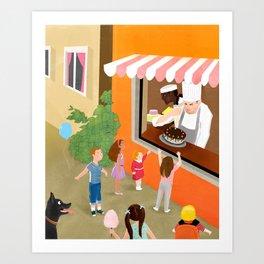 The Bakery Shop Art Print