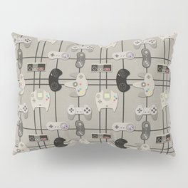 Paper Cut-Out Video Game Controllers Pillow Sham