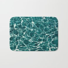 SEA - blue , white ocean , waves , clear , clarity Bath Mat