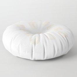 White Shapes Floor Pillow