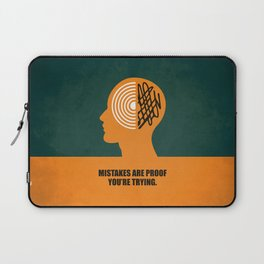 Lab No. 4 -Mistakes are proof you're trying corporate start-up quotes Poster Laptop Sleeve