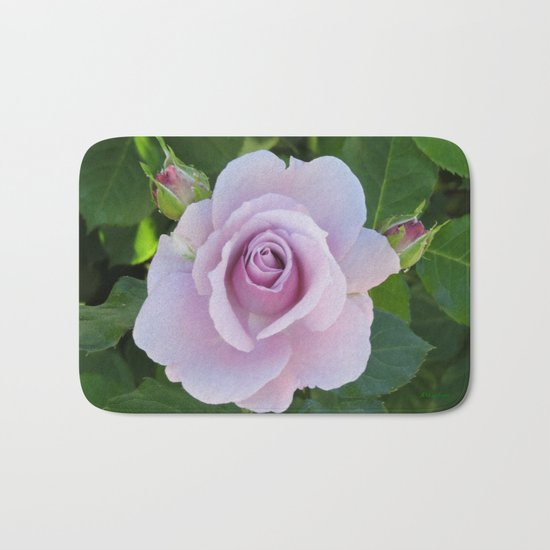 Bloom and Buds Paling to Purple Bath Mat