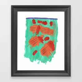 Traces on a grass... Framed Art Print