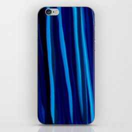 Stripes  - Ocean blues and black iPhone Skin