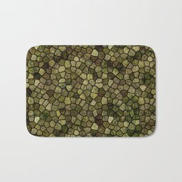 Faux Toad Skin Abstract Pattern Bath Mat