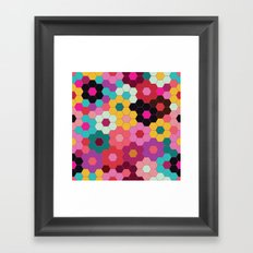 Honeycomb Blooms Framed Art Print