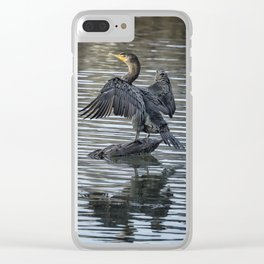 Double-Crested Cormorant Landscape Clear iPhone Case