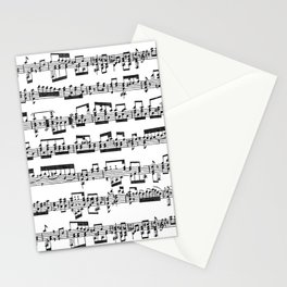 Sheet Music Stationery Cards
