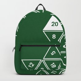 Green Unrolled D20 Backpack