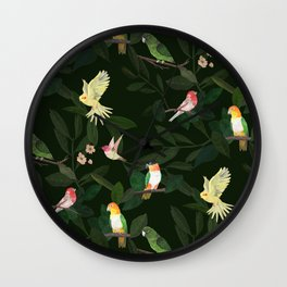 Gathering of Birds Wall Clock
