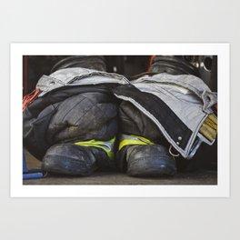 Fireman's Boots Art Print