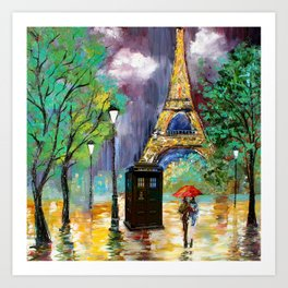 TARDIS IN THE PARIS Art Print