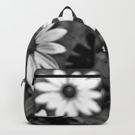 Three Gloriosa daisies B&W Backpack
