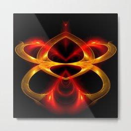 Sculpture by light Metal Print