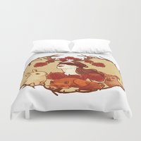 fawn Duvet Covers featuring fawn by chazstity
