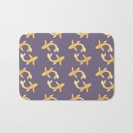 Golden Koi Pattern Bath Mat