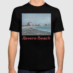 Revere Beach 1 Mens Fitted Tee MEDIUM Black