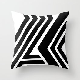 Black and White Geometric Abstract Throw Pillow