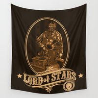 star lord Wall Tapestries featuring Lord of Stars by Spicy Monocle