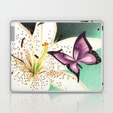 White Lily Laptop & iPad Skin