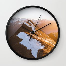 Snow Top Mountains 2 Wall Clock