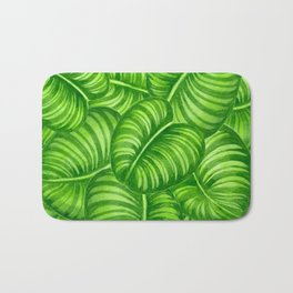 Calathea leaves Bath Mat