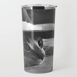 Molly in black and white Travel Mug