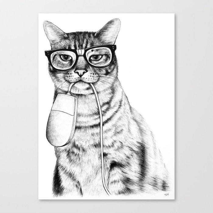 Mac Cat Canvas Print