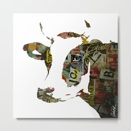 Graffiti Cow Pop Art Colorful Modern Abstract Painting Poster Print Metal Print